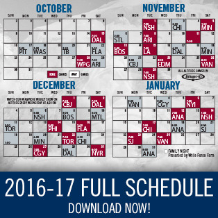 2016-17 Avalanche Schedule Download