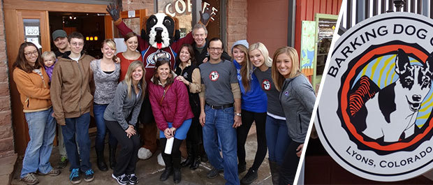 The Avs Ice Girls visit Barking Dog Cafe in Lyons, Colorado