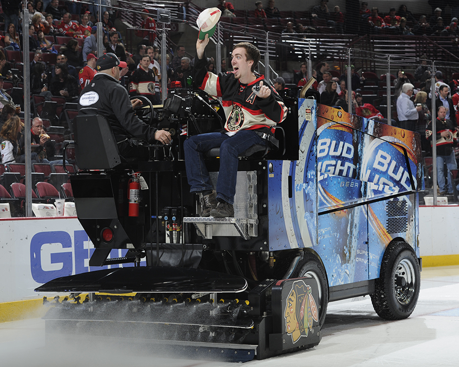 guy being weird on the zamboni