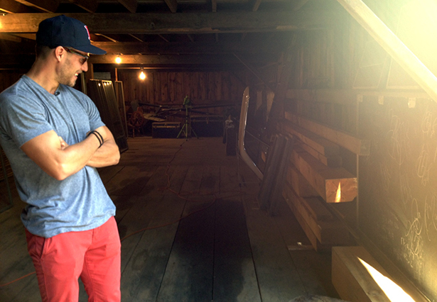 Gregory Campbell in his family's barn.