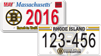 Bruins License Plate