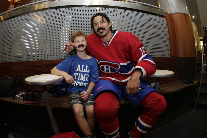 George Parros Mustache George Parros' Day in Photos