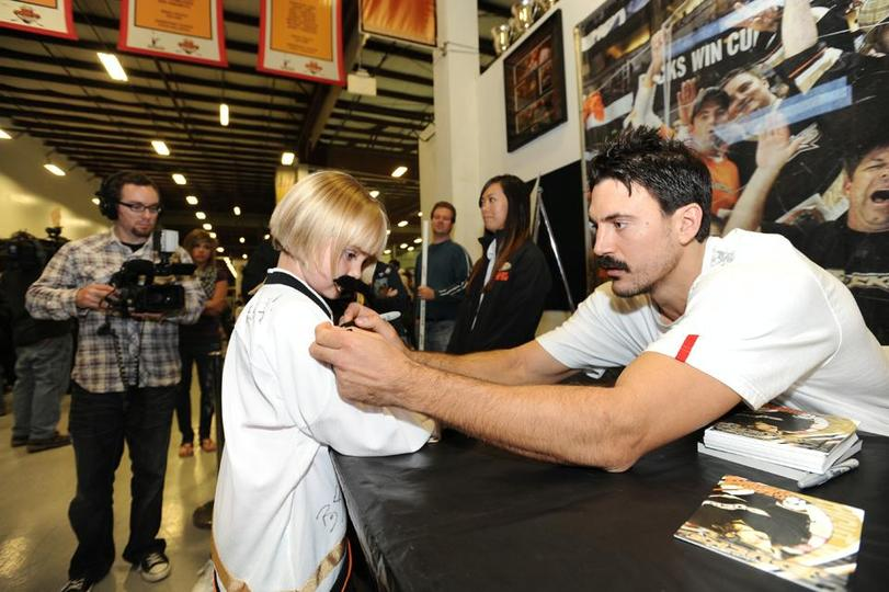 George Parros And Wife George Parros Cut For The Kids