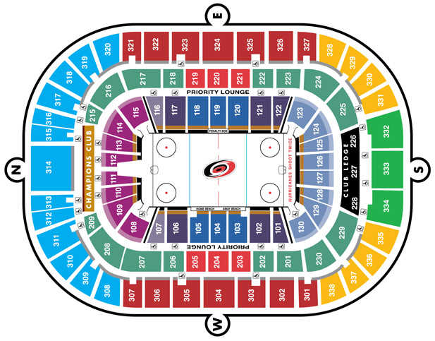 PNC Arena Seating Chart
