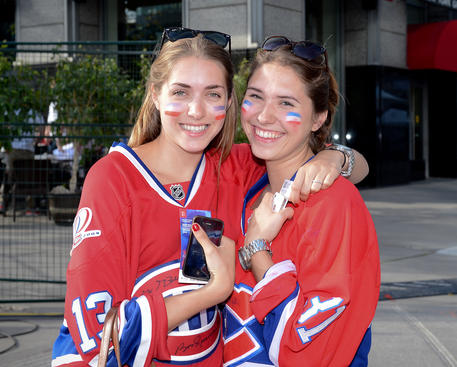 MONTREAL, CANADA - MAY 9: Fans of the Montreal Canadiens came early to catch a bit of sun before Game Five of the Eastern Conference Quarterfinals during the 2013 NHL Stanley Cup Playoffs against the Ottawa Senators at the Bell Centre on May 9, 2013 in Montreal, Quebec, Canada. (Photo by Francois Lacasse/NHLI via Getty Images)