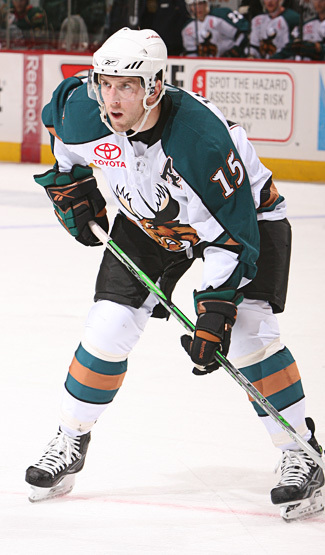 Jason Jaffray with the Manitoba Moose
