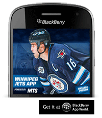 Winnipeg Jets Mobile App get it at Blackberry App World