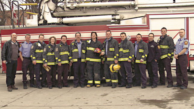 Slater visits Firehall #1 as part of Take A Jet To Work