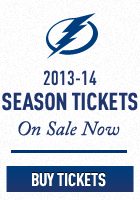 2013-14 Tampa Bay Lightning Hockey Season Tickets Now on Sale