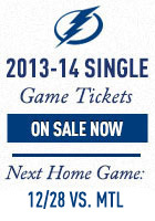 Tampa Bay Lightning Single Game Ticke