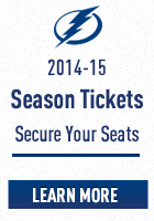 2014-15 Tampa Bay Lightning Hockey Season Ticket