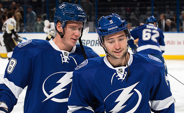 Tyler Johnson and Ondrej Palat