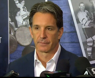 Shanahan speaks with media