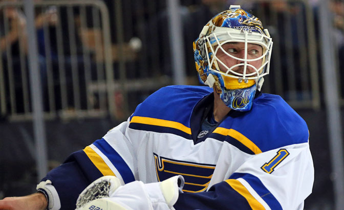 Blues goalie Elliott paying homage to Cujo with mask