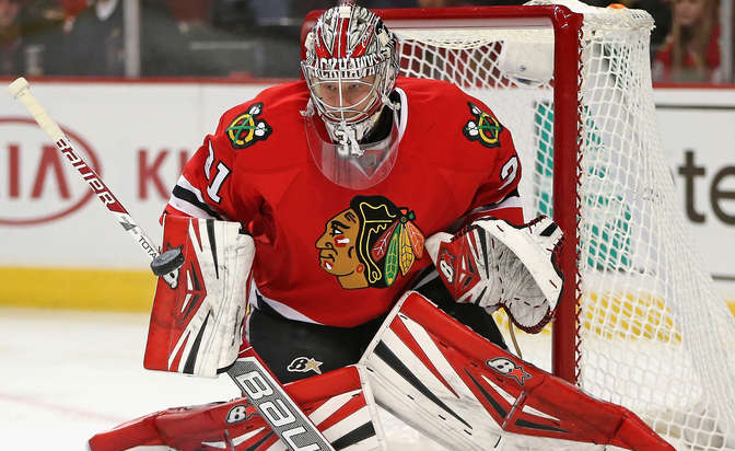 Ed Belfour Chicago Blackhawks39 Antti Raanta honors Ed Belfour with