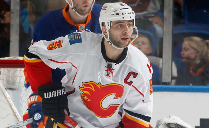 Flames place captain Giordano on IR, claim Schlemko