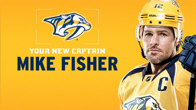 Predators name Mike Fisher 7th captain in franchise history